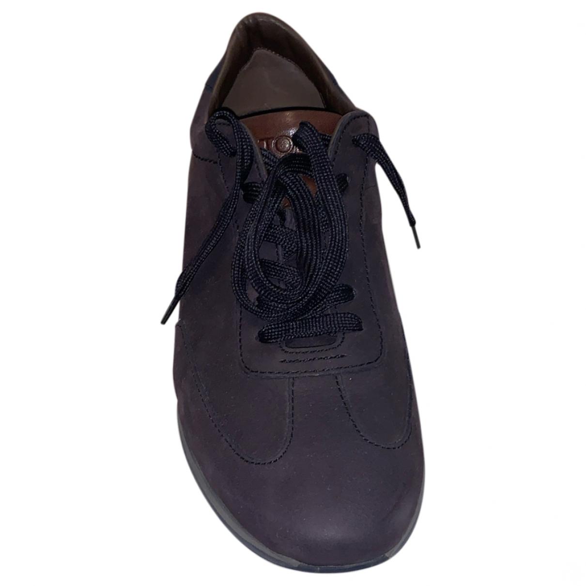 Tods \N Sneakers in  Marine Veloursleder