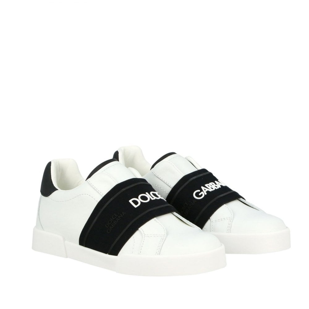 Dolce & Gabbana Leather Sneakers Colour: WHITE, Size: 34