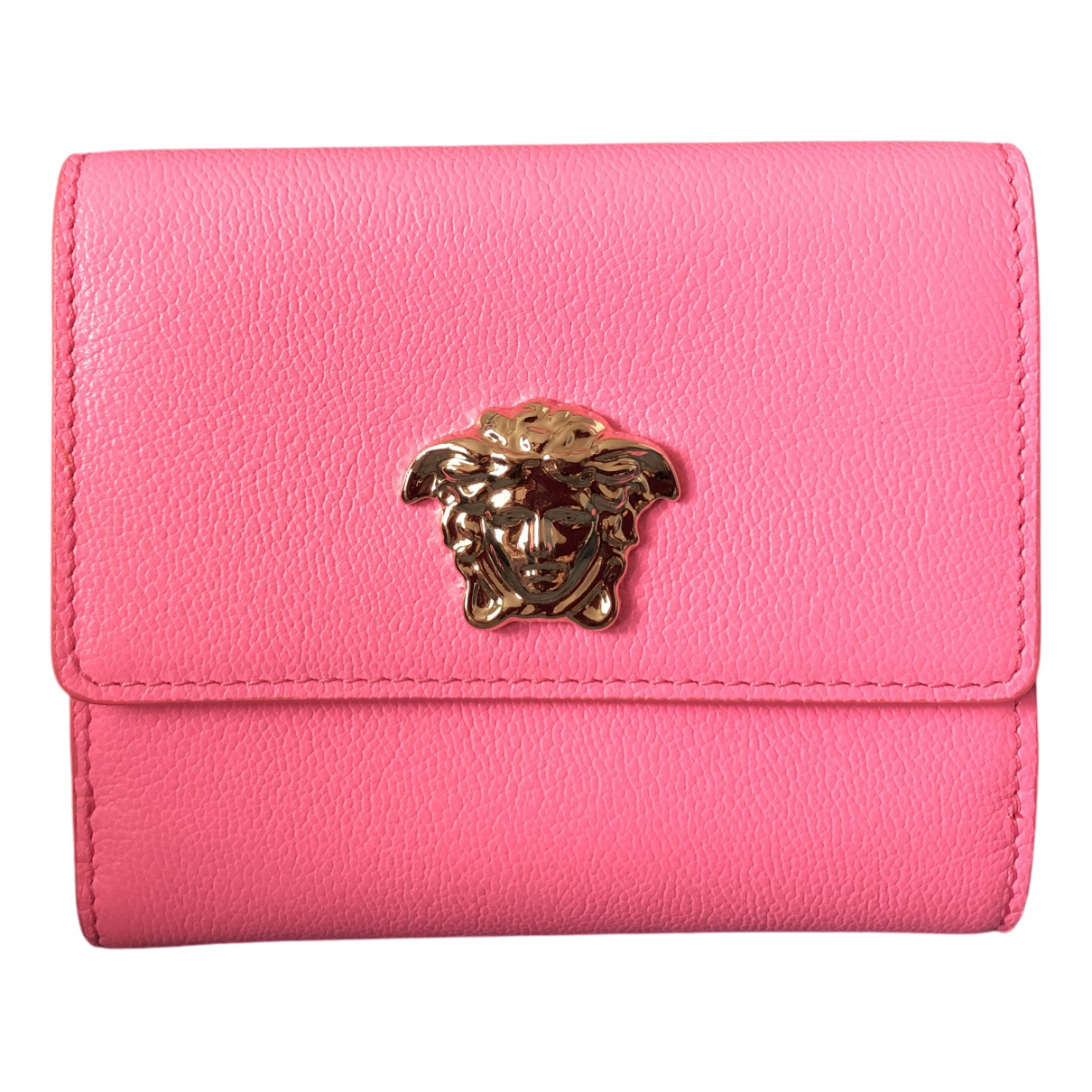 Versace - Portefeuille   pour femme en cuir - rose