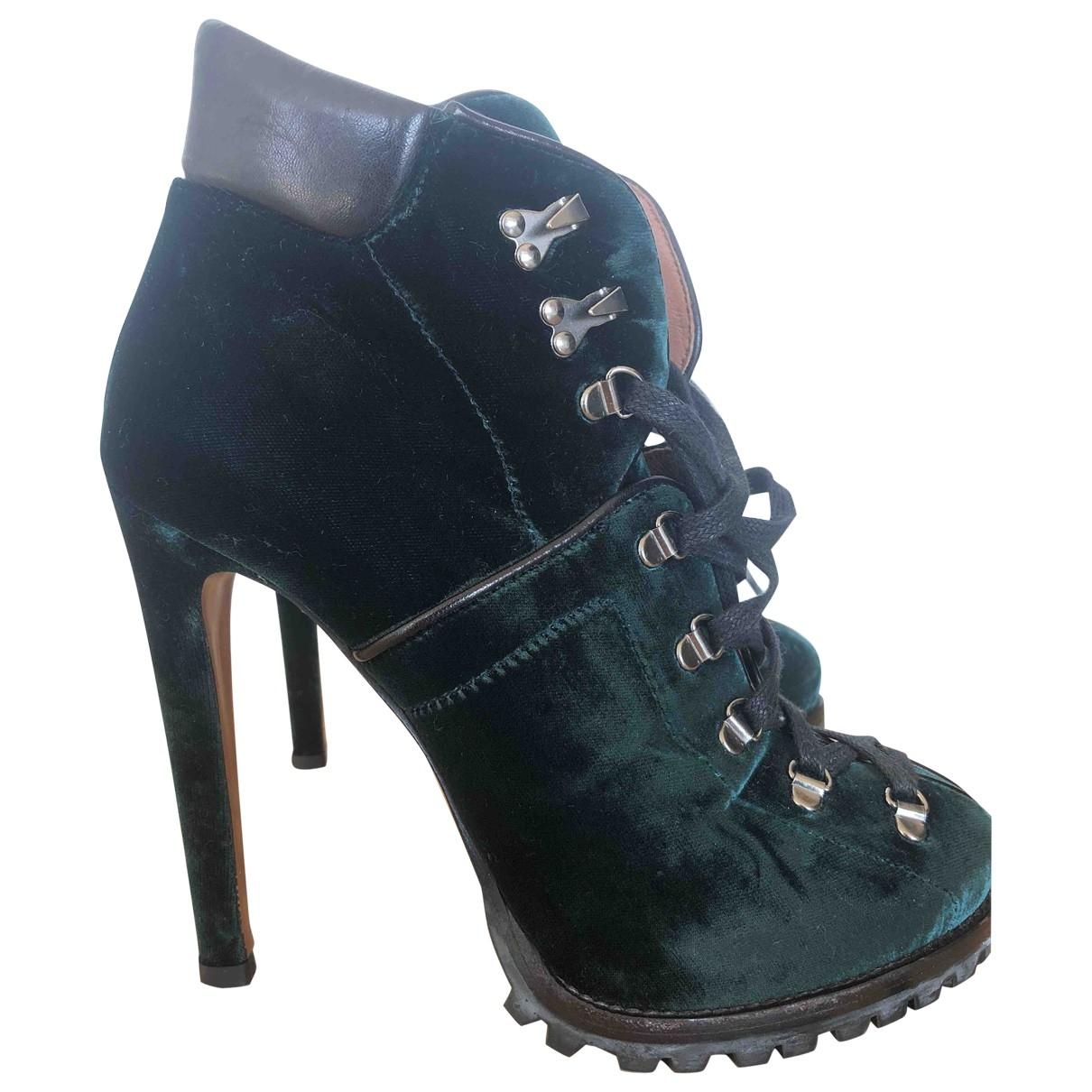 Alaia - Boots   pour femme en velours - vert