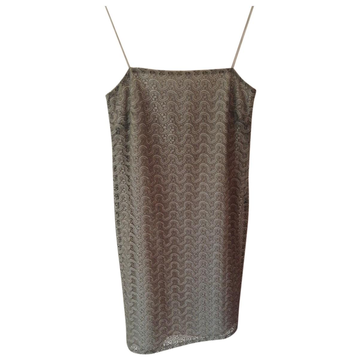 Max Mara N Silver Cotton dress for Women 42 FR