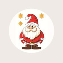 Christmas Santa Pattern Pop-Out Phone Grip