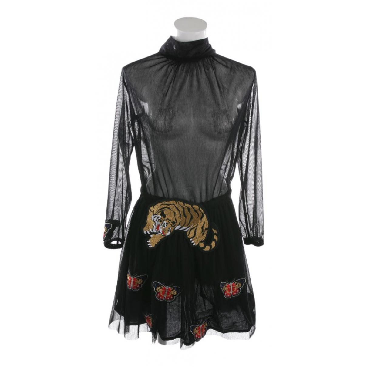 Shirtaporter \N Black Cotton dress for Women 36 FR