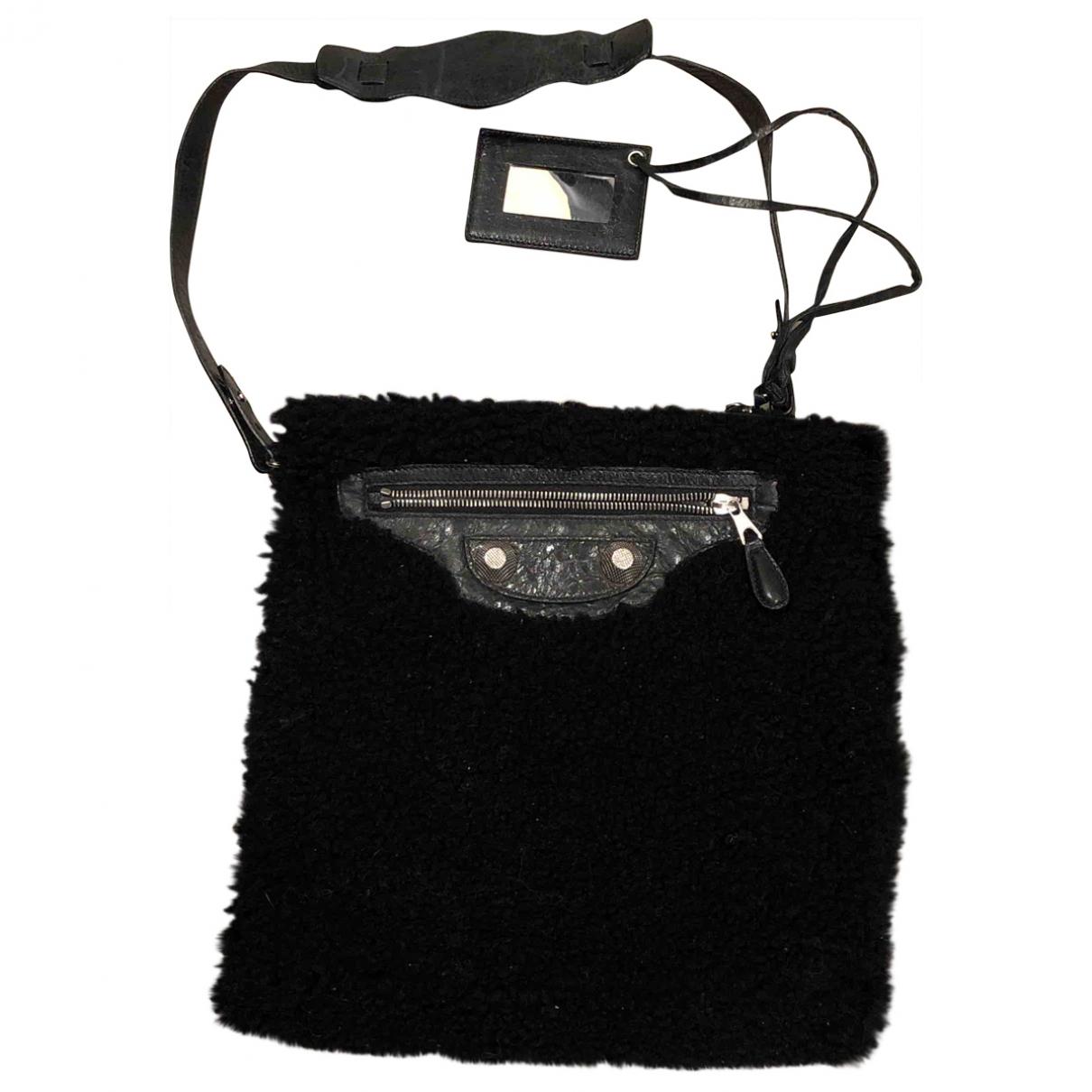 Balenciaga \N Black Shearling handbag for Women \N