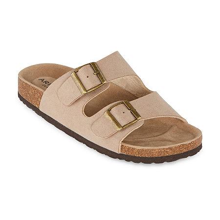 Arizona Fireside Womens Footbed Sandals, 11 Medium, White