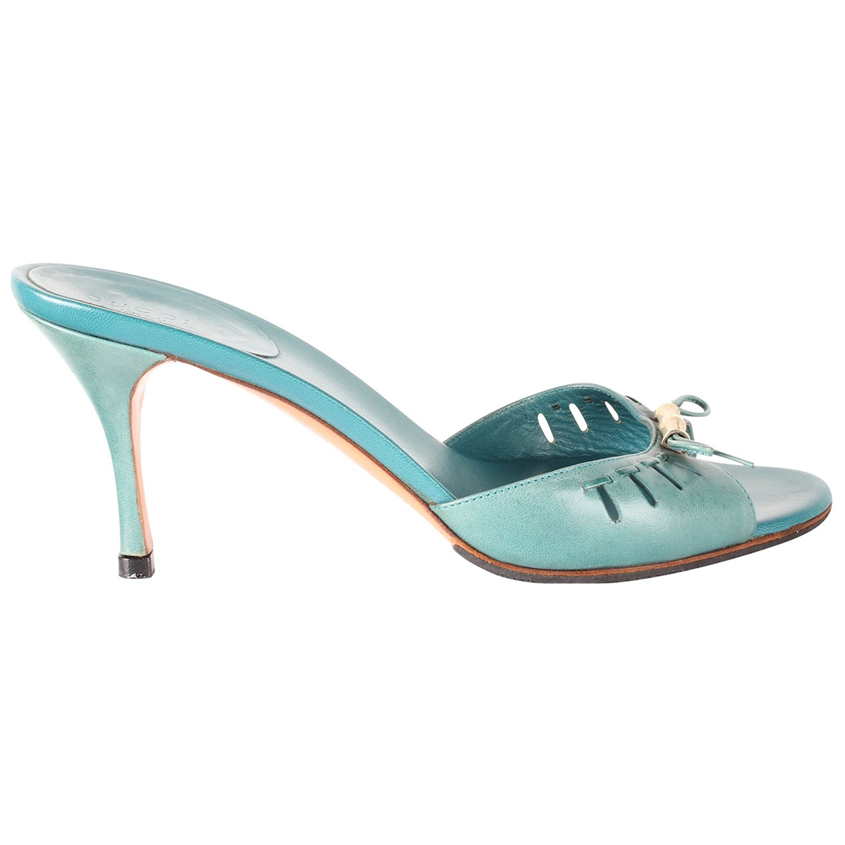Gucci \N Turquoise Leather Sandals for Women 39 EU