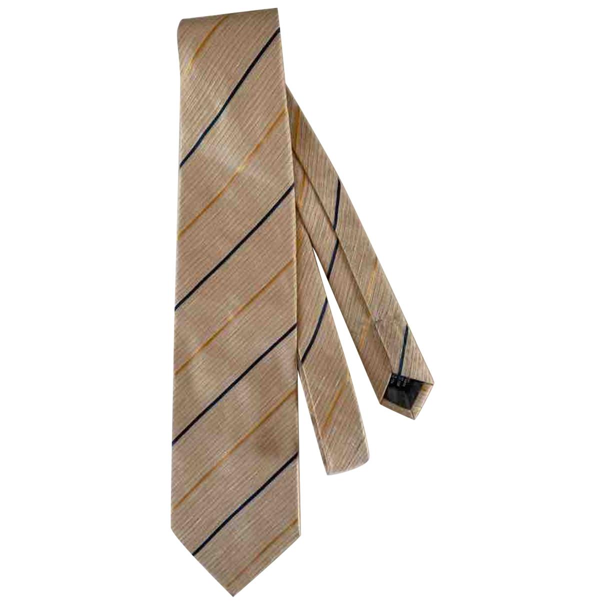 Trussardi \N Krawatten in  Beige Seide