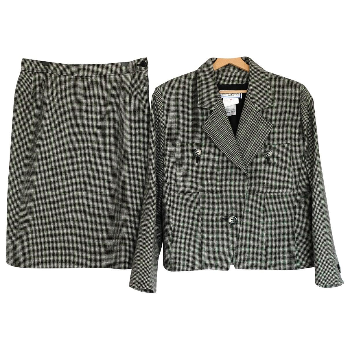 Yves Saint Laurent \N Rocke in  Grau Wolle