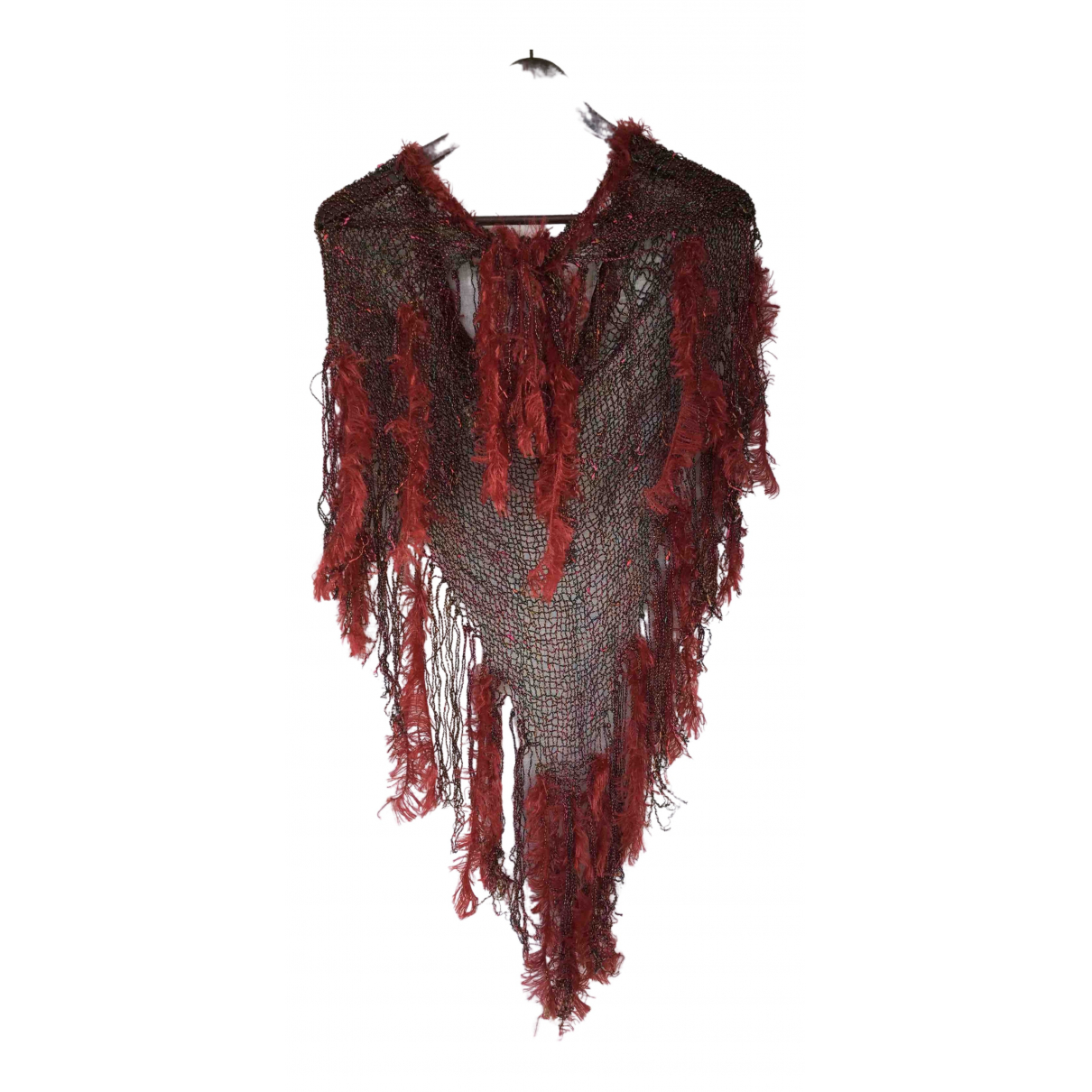 Non Signé / Unsigned Crochet Red scarf for Women N