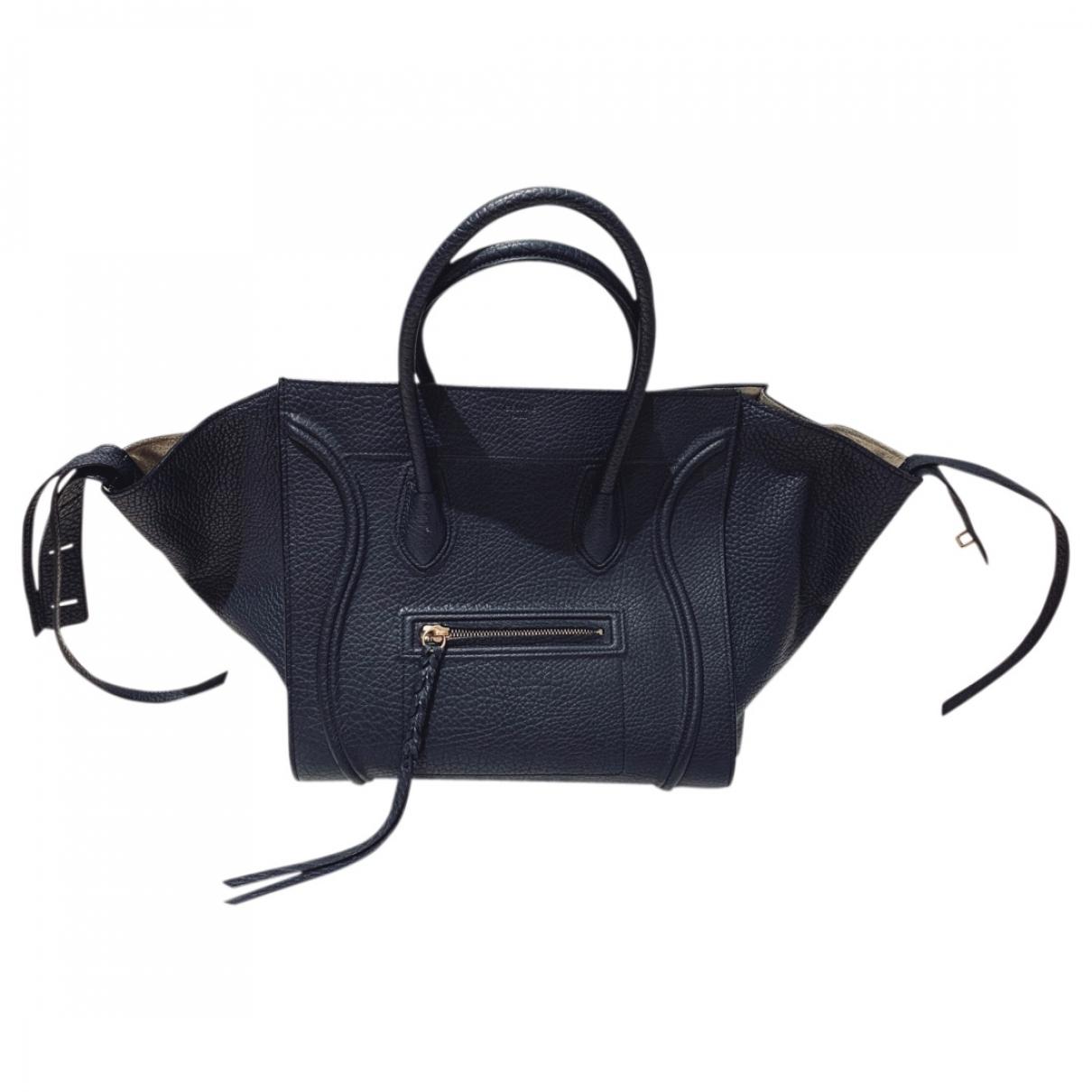 Celine Luggage Phantom Navy Leather handbag for Women \N