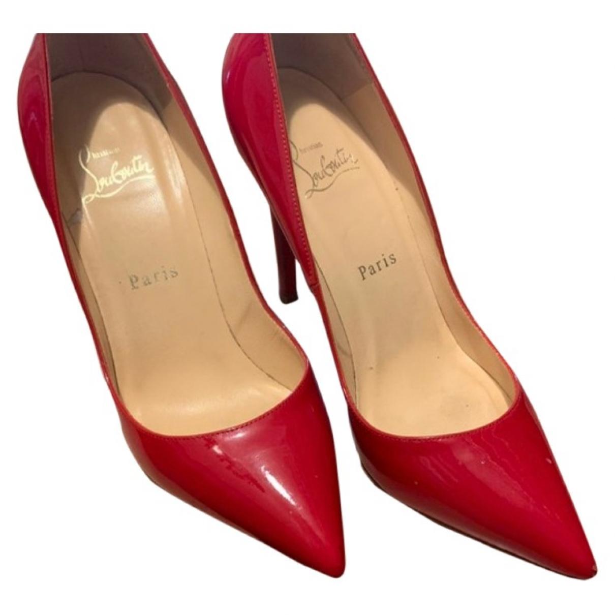 Christian Louboutin - Escarpins Pigalle pour femme en cuir verni - rouge