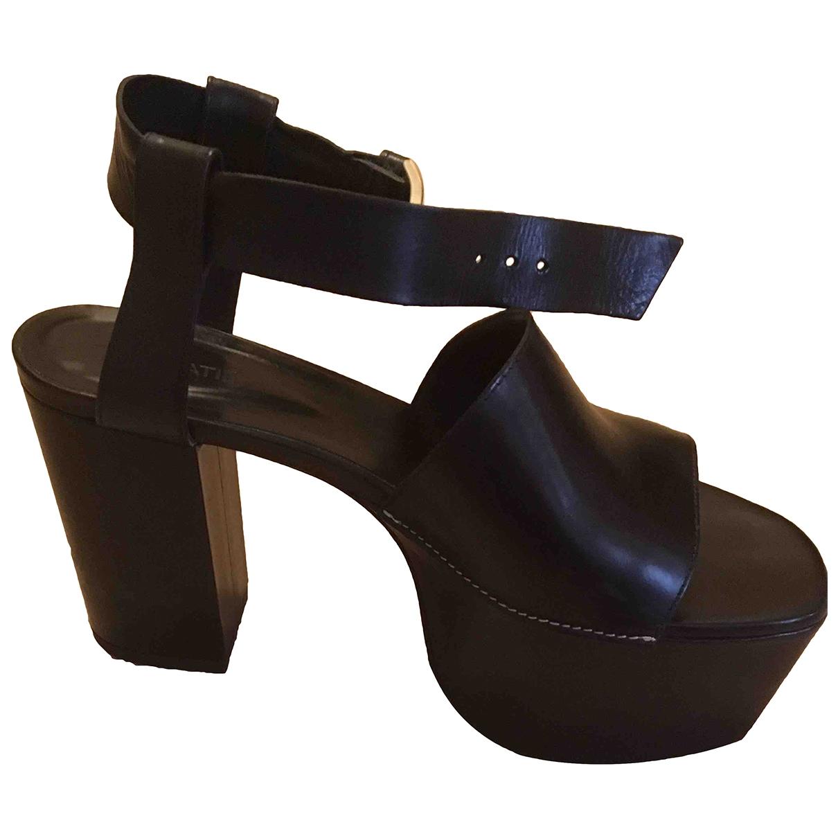 Vic Matie - Sandales   pour femme en cuir - noir