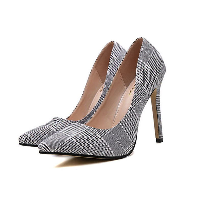 Ericdress Stiletto Heel Print Slip-On Casual Pumps