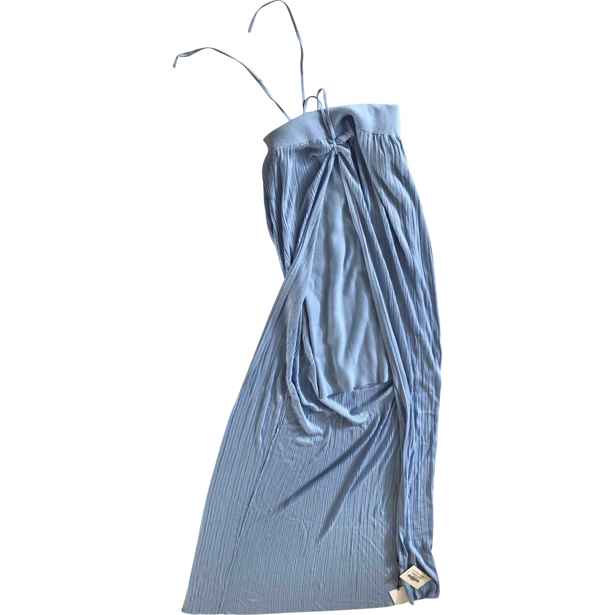 Jacquemus La Riviera Blue Linen dress for Women 38 FR