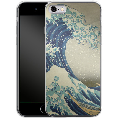 Apple iPhone 6s Silikon Handyhuelle - Great Wave Off Kanagawa By Hokusai von caseable Designs