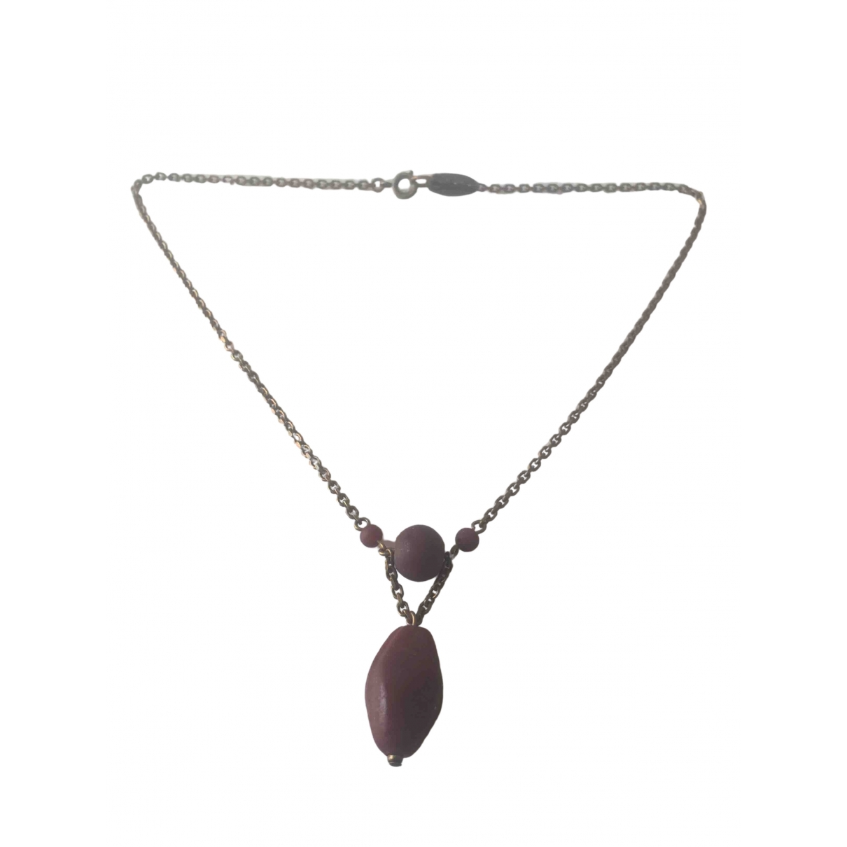 Isabel Marant \N Burgundy Metal necklace for Women \N