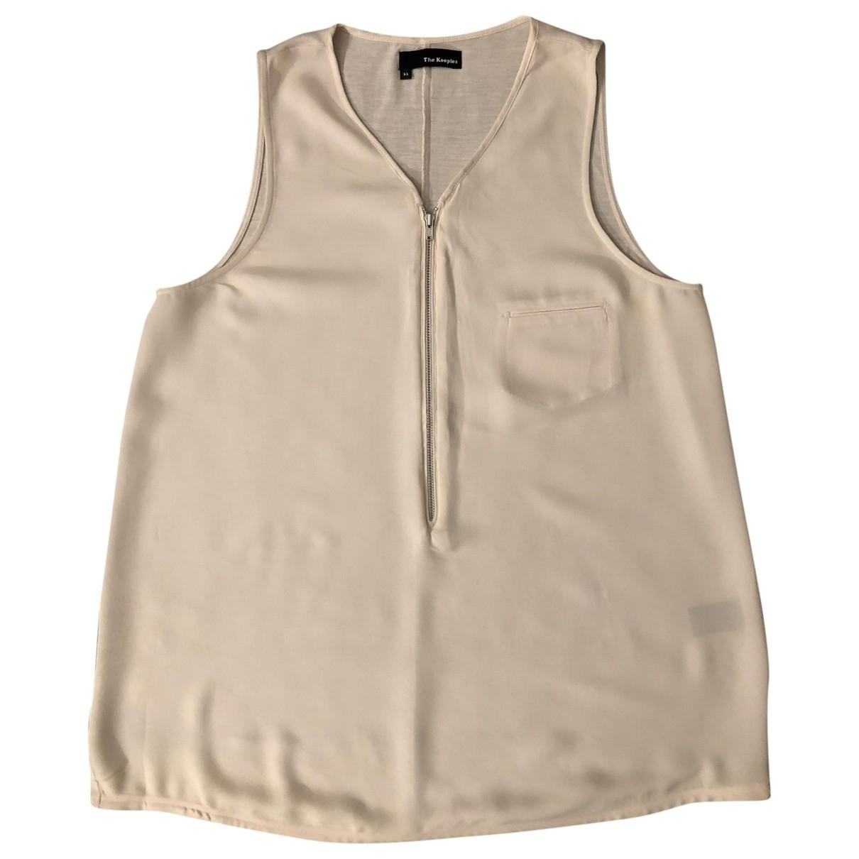 The Kooples \N Ecru Silk  top for Women 42 FR