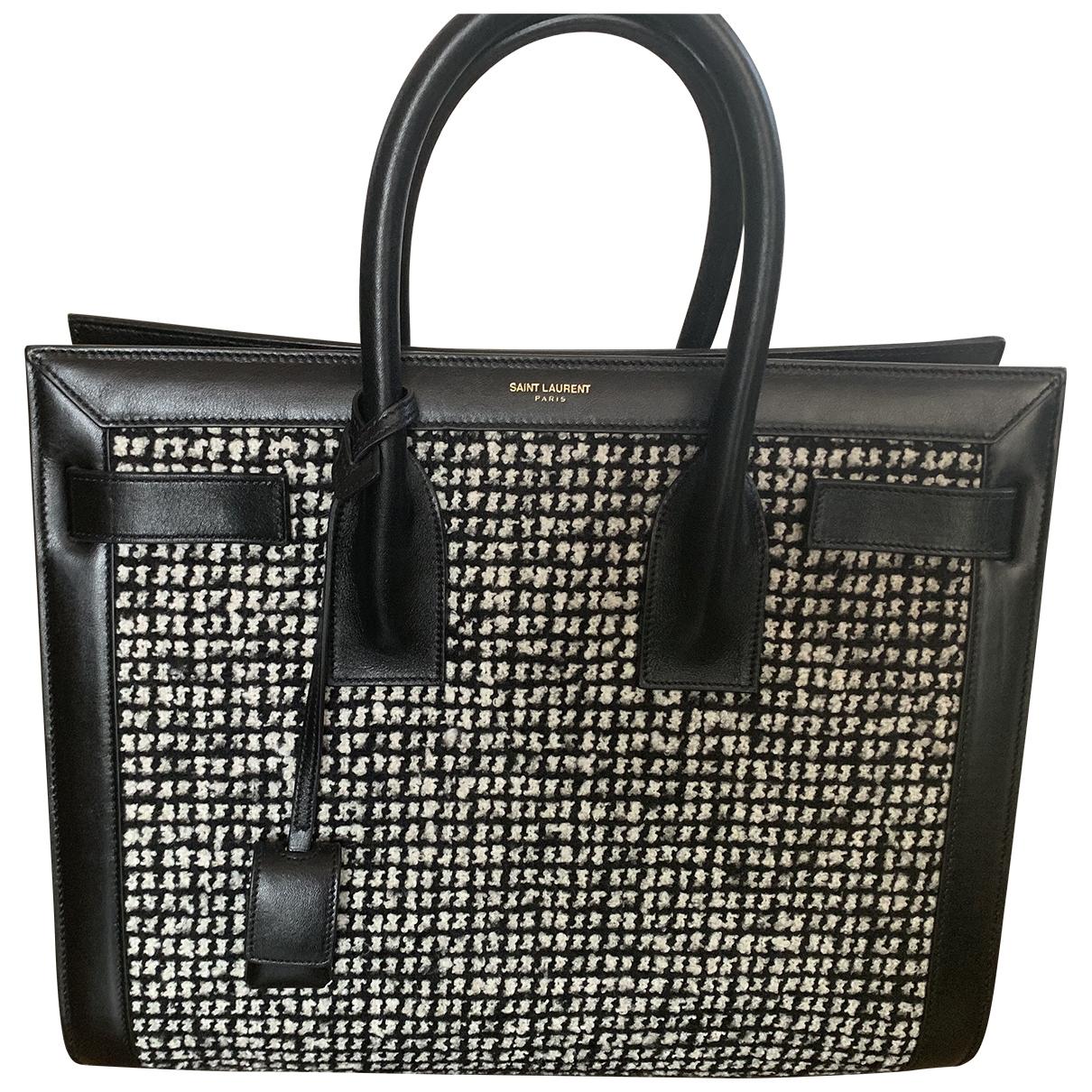 Saint Laurent Sac de Jour Black Tweed handbag for Women \N