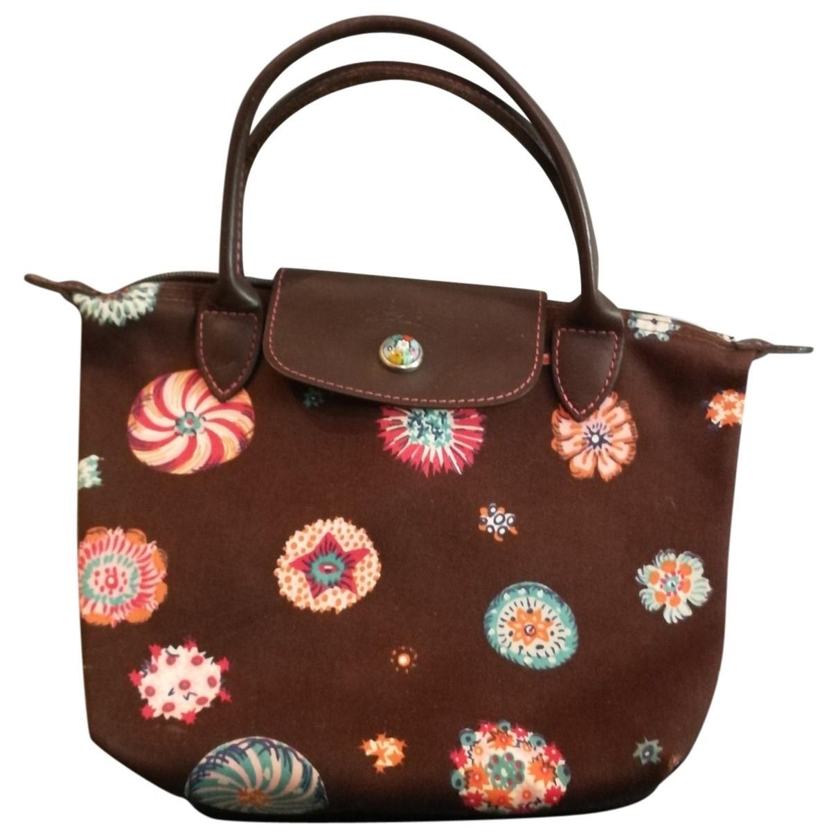 Longchamp - Petite maroquinerie   pour femme en toile - marron