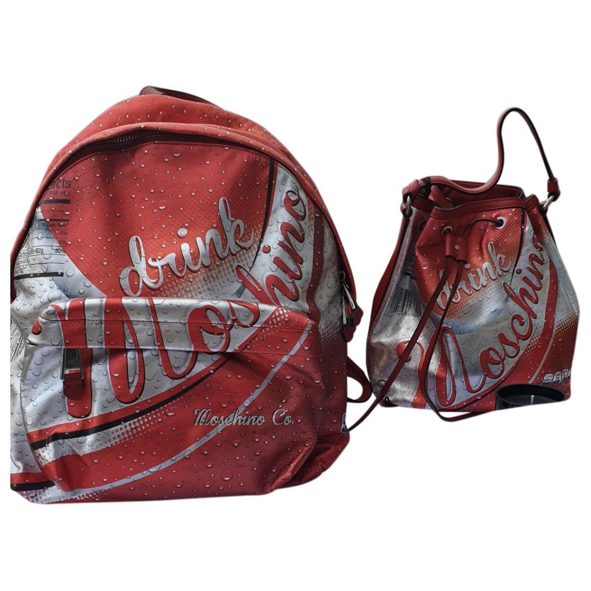 Moschino \N Metallic Leather backpack for Women \N