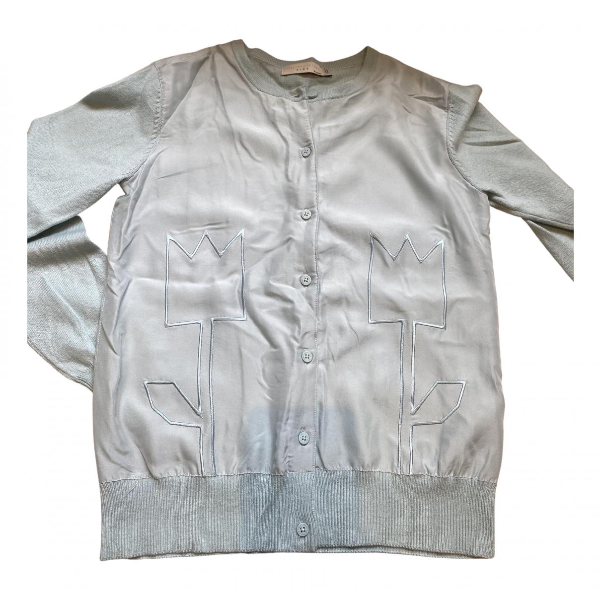 Stella Mccartney - Pull   pour enfant en coton - turquoise