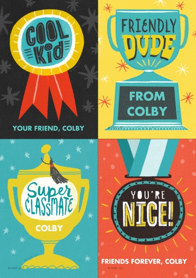 Just Because 5x7 Cards, Standard Cardstock 85lb, Card & Stationery -Fun Awards Cut-Apart by Hallmark