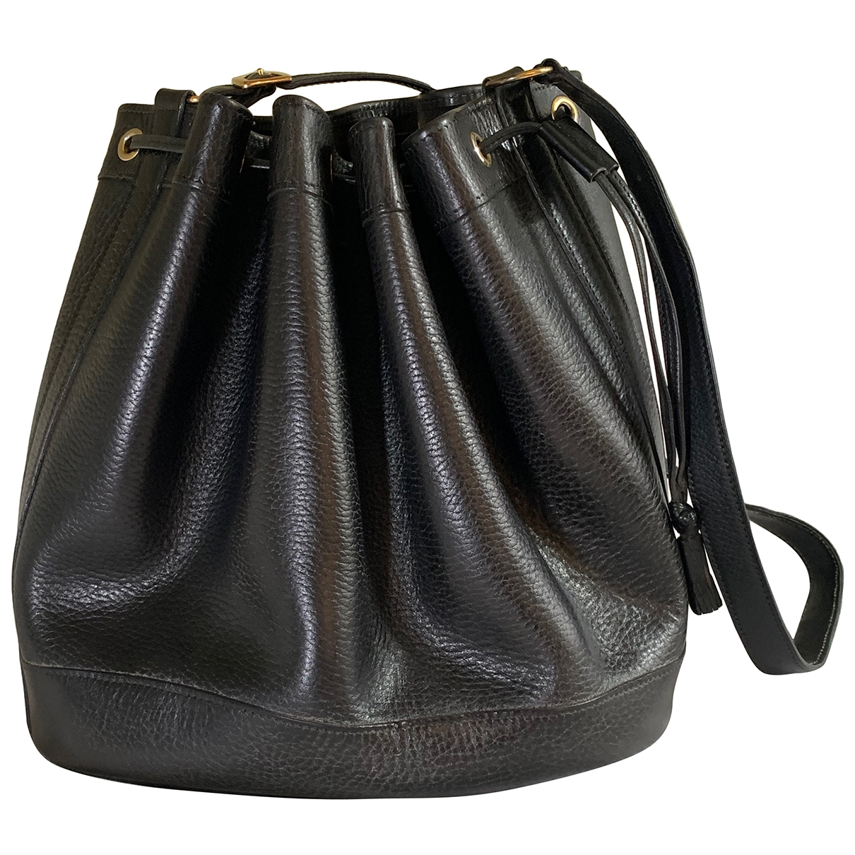 Hermès Mangeoire Black Leather handbag for Women \N