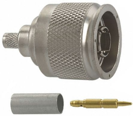 TE Connectivity Straight 50Ω Cable Mount Coaxial Connector, Plug, Crimp Termination, RG58 A/U, RG58 C/U