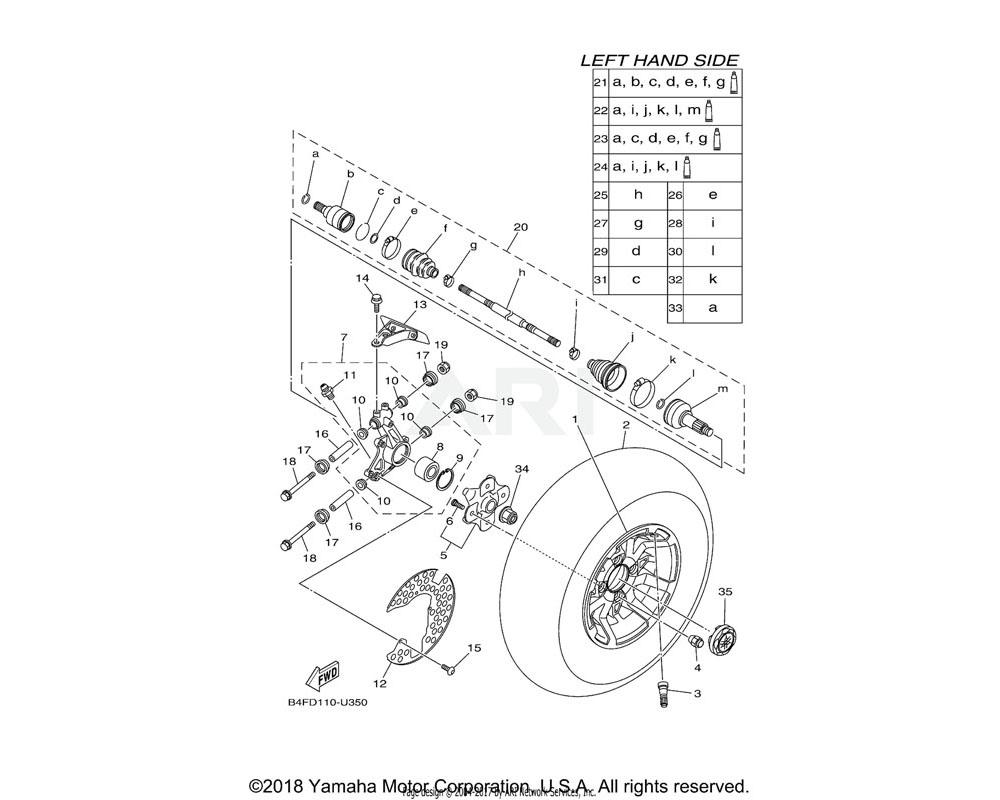 Yamaha OEM 1RB-F530B-10-00 WHEEL CAP ASSY.