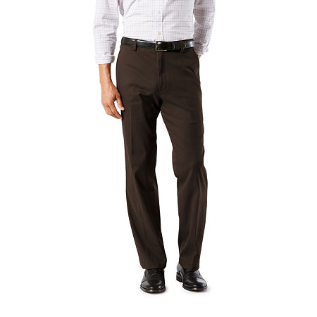 Dockers Men's Classic Fit Easy Khaki with Stretch Pants D3, 33 30, Brown