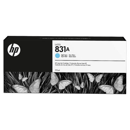 HP 831A CZ686A cartouche d'encre latex cyan clair originale 775ml