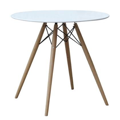 FMI10039-48-WHITE Fine Mod Imports WoodLeg Dining Table 48