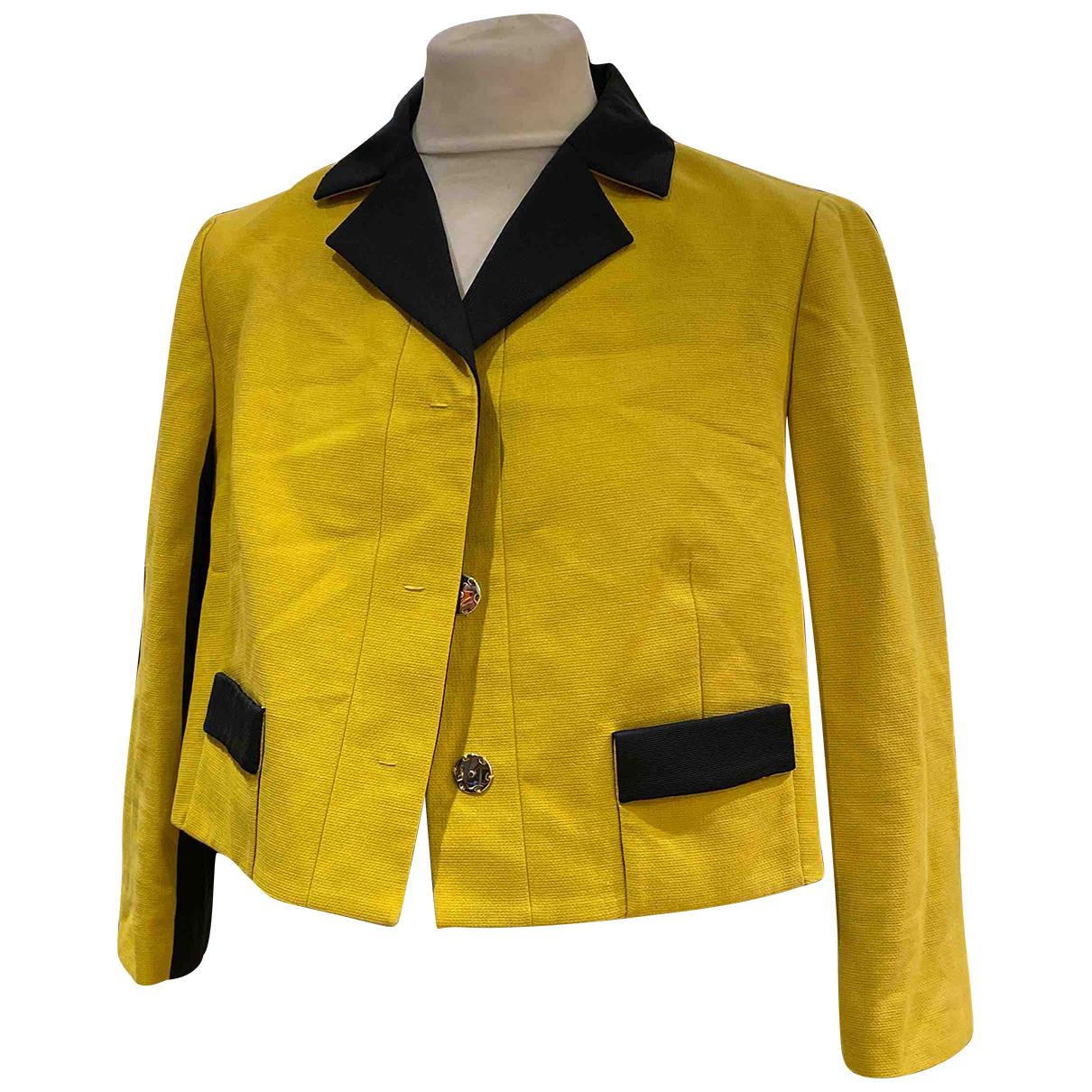 Paule Ka - Veste   pour femme en soie - jaune
