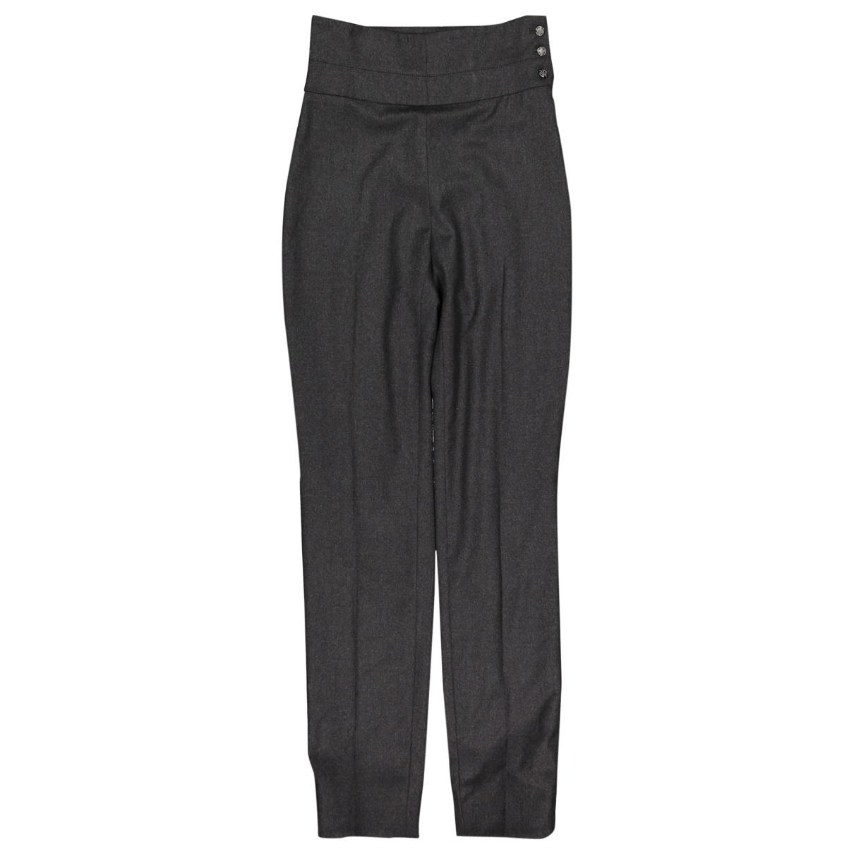 Pantalon recto de Lana Chanel