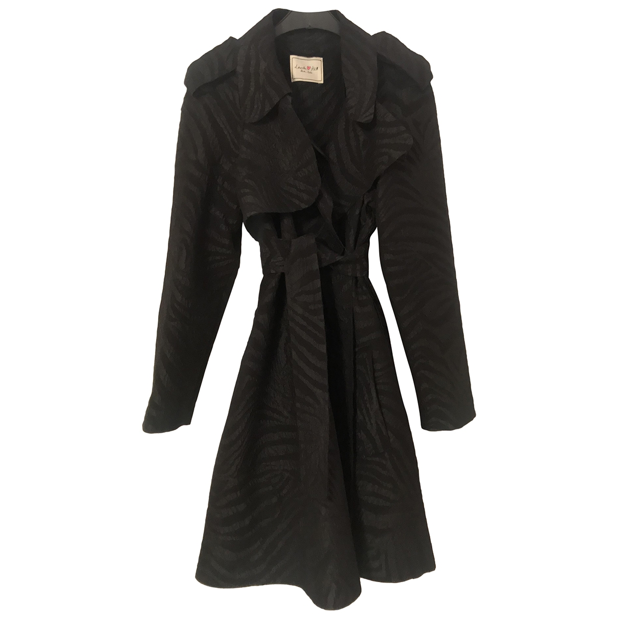 Lanvin For H&m \N Black Trench coat for Women 12 US