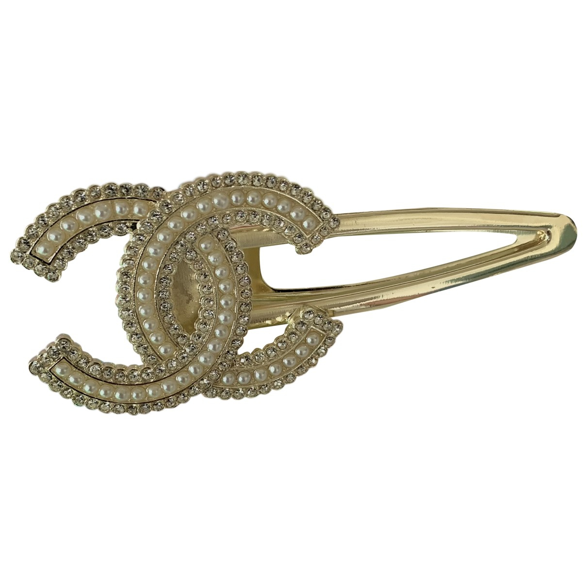Chanel CC Haarschmuck in  Gold Metall