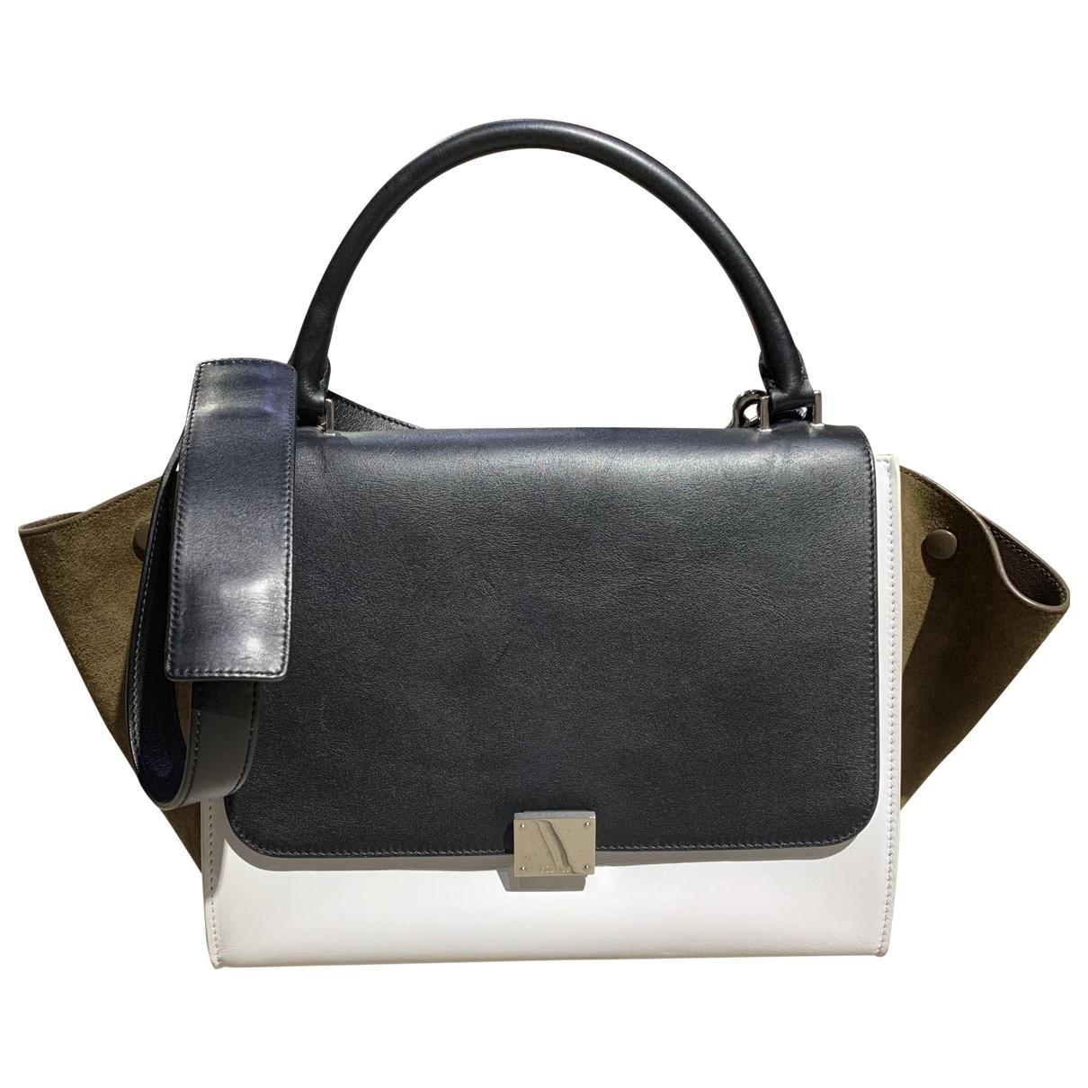 Celine Trapeze Handtasche in  Weiss Leder