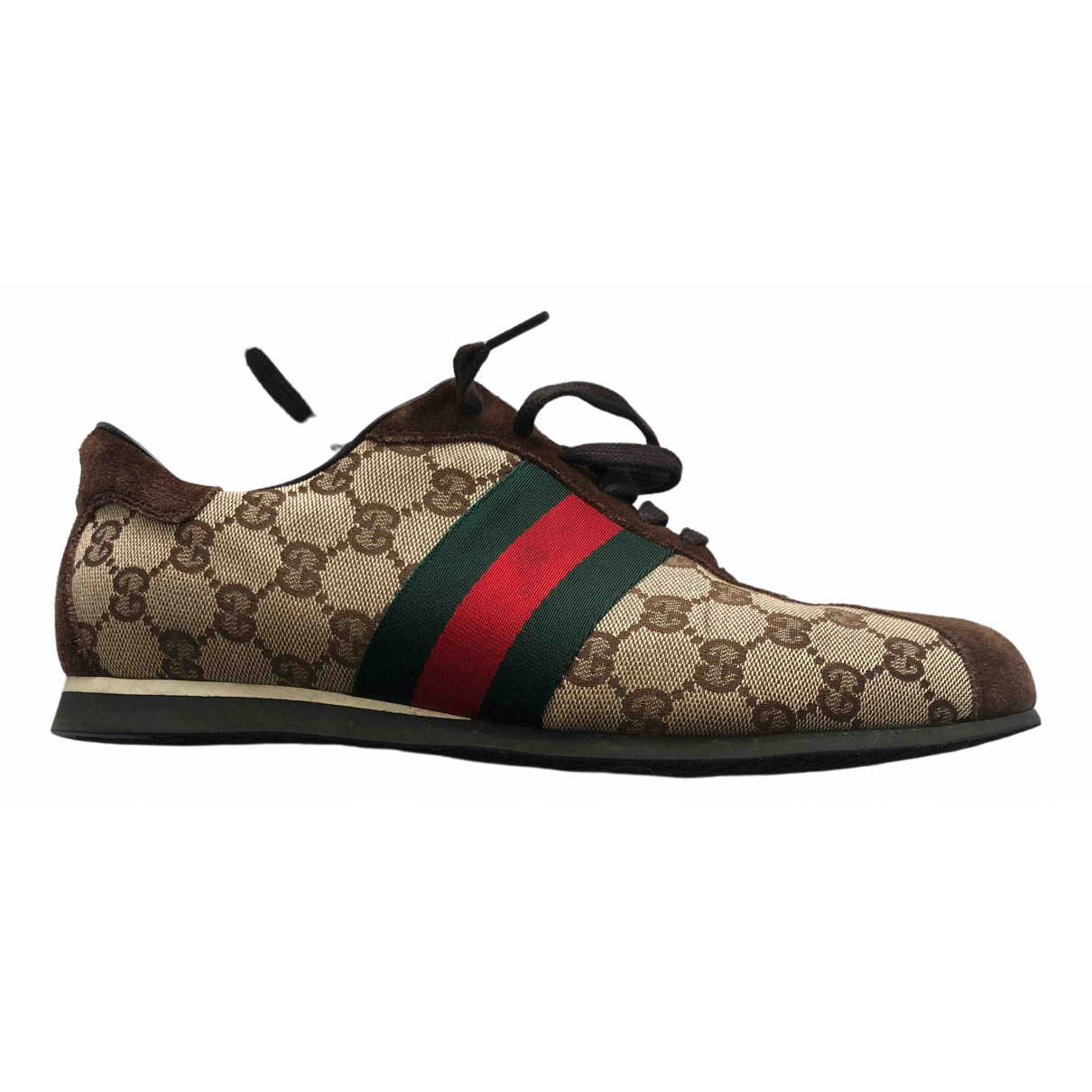Gucci Ace Brown Cloth Trainers for Men 7.5 UK