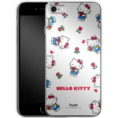 Apple iPhone 6s Silikon Handyhuelle - Hello Kitty Flower Pattern von Hello Kitty
