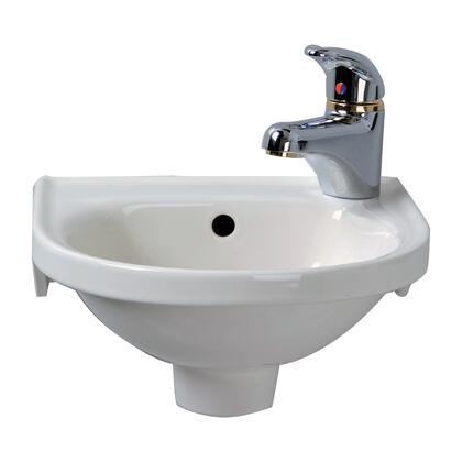 4-521WH Rosanna Wall Hung Basin  Right Hole  w/Hangers