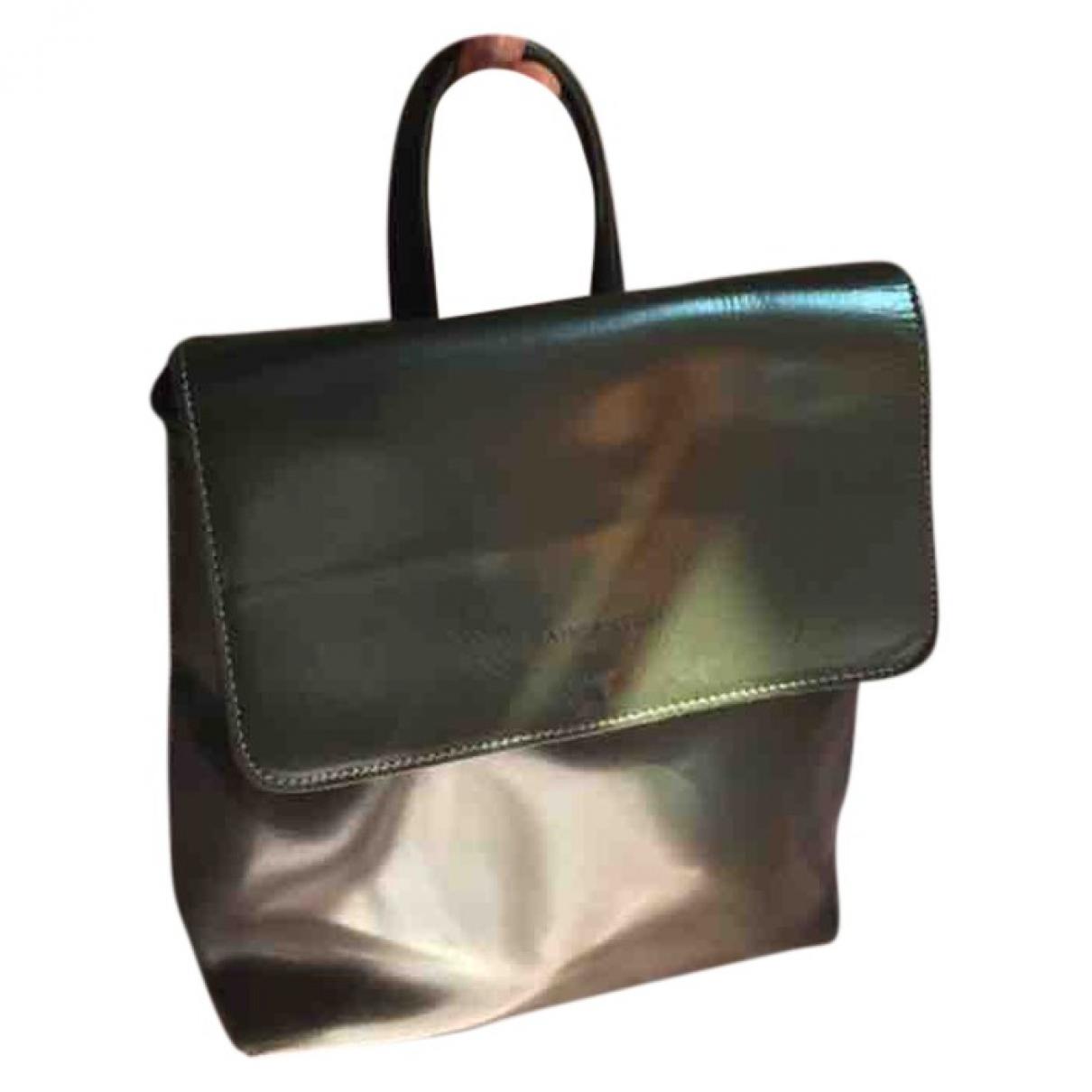 Lancaster \N Khaki Leather backpack for Women \N