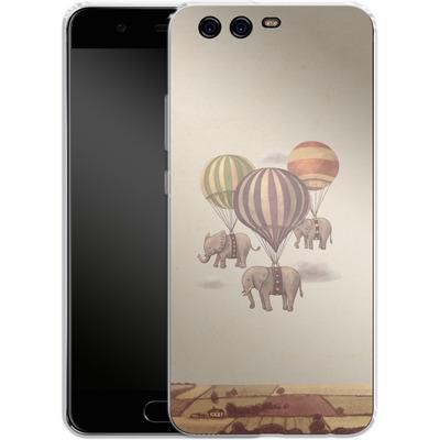 Huawei P10 Silikon Handyhuelle - Flight Of The Elephants von Terry Fan