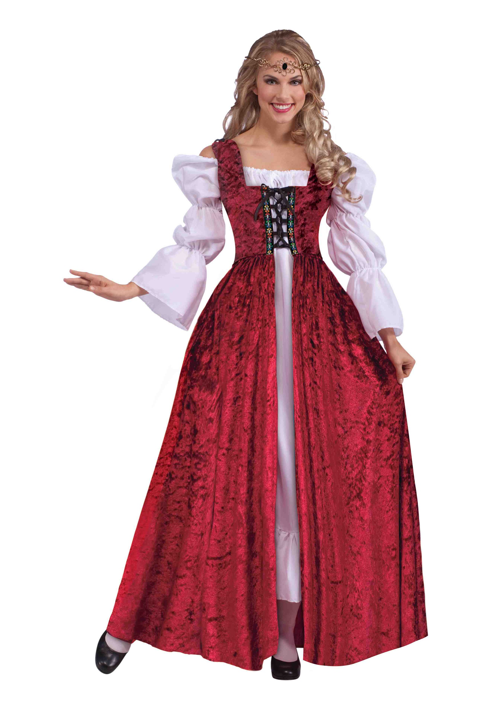 Medieval Laced Gown for Plus Size Women Costume | Medieval Princess Costumes