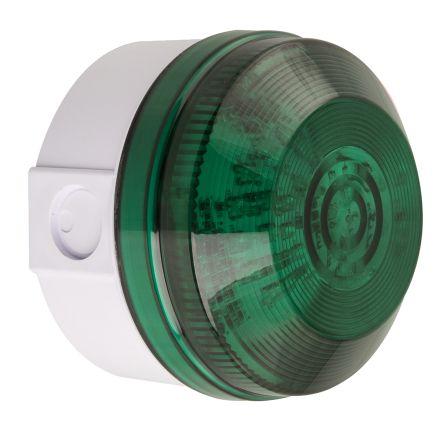 Moflash LED195 Green LED Beacon, 8 → 20 V ac/dc, Flashing, Surface Mount, Wall Mount