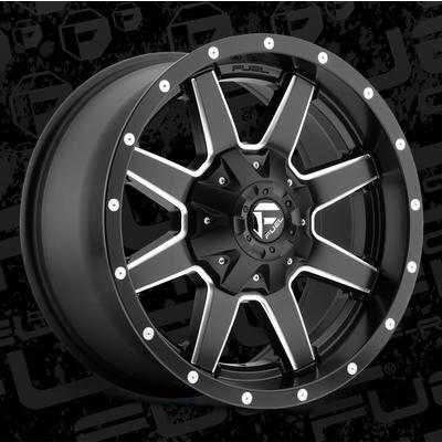 MHT Fuel Offroad Maverick D538 Wheel, 18x9 with 5 on 127 Bolt Pattern - Matte Black Milled - D53818905757