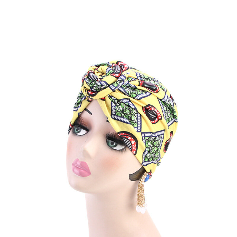 Women's Garden Turban Rose Cap Cotton Retro Adjustable Soft Cap