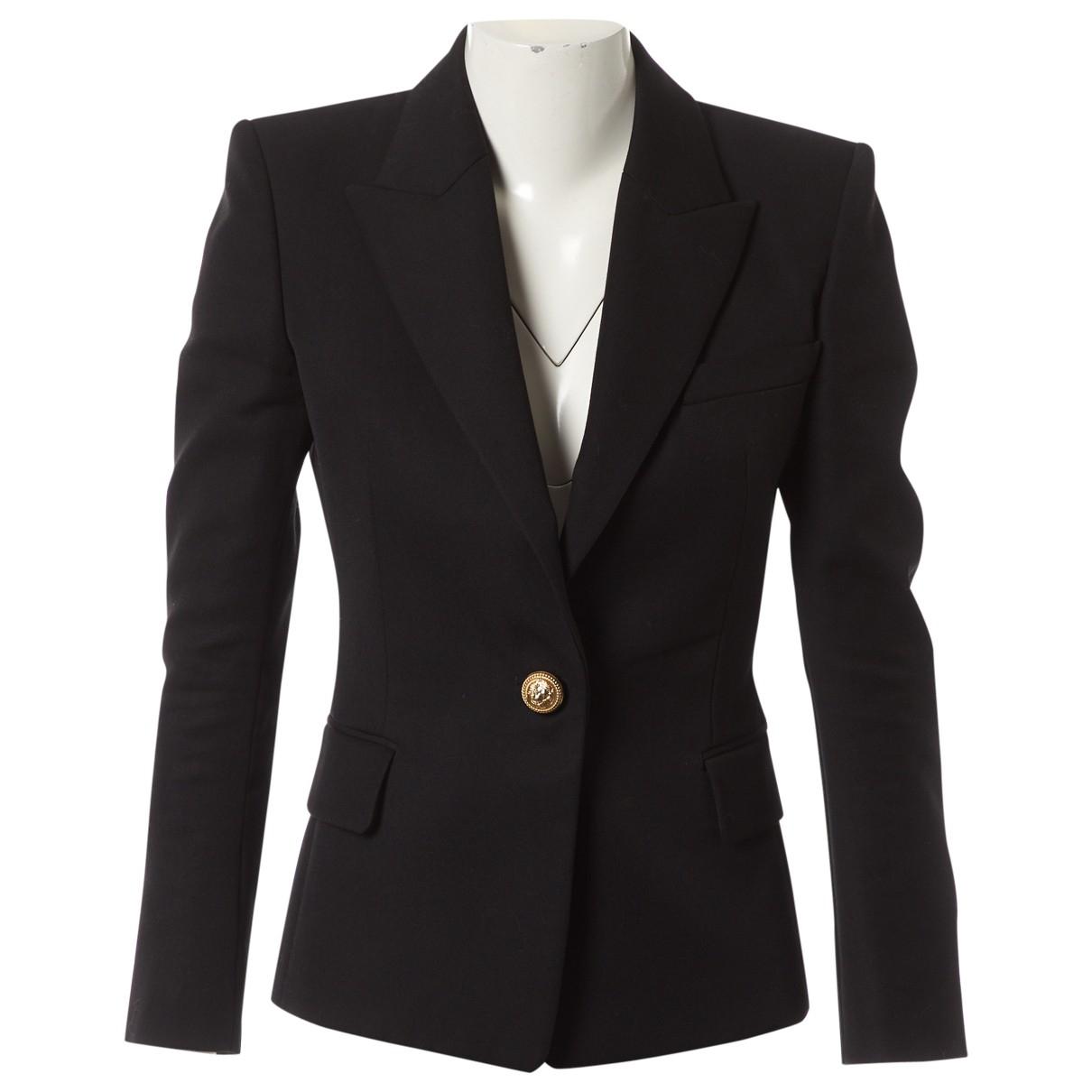 Balmain \N Black Wool jacket for Women 36 FR