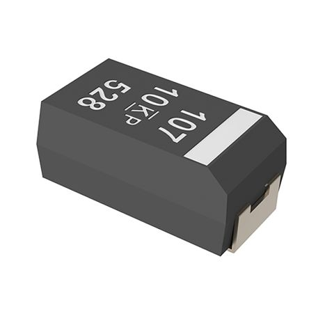 KEMET Tantalum Capacitor 100μF 6.3V dc Electrolytic Solid ±20% Tolerance , T591 (2000)