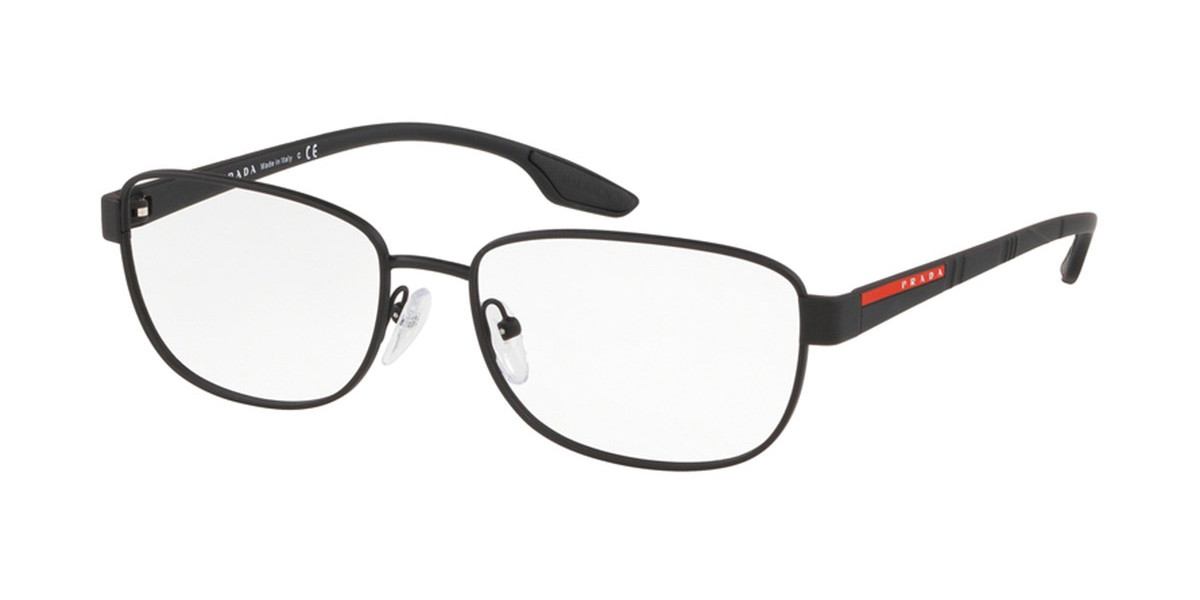 Prada Linea Rossa PS52LV DG01O1 Men's Glasses Black Size 54 - Free Lenses - HSA/FSA Insurance - Blue Light Block Available