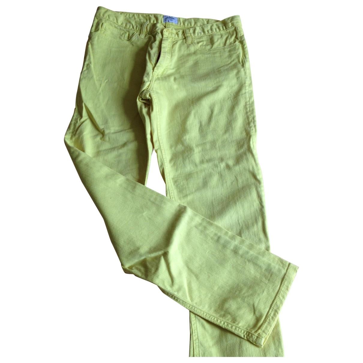 Bellerose \N Yellow Cotton Trousers for Women 1 0-5